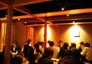 食事会 京都駅近くにある某鉄板焼き店内にて