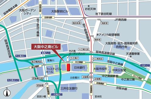 地図(中之島ビル)